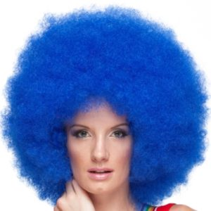 Jumco blue clown afro