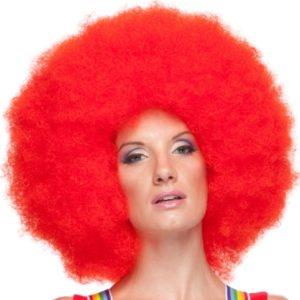 Jumbo red clown afro