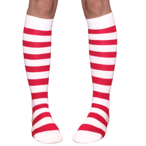 Red & white stripe socks