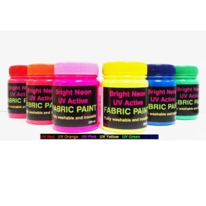 Neon UV Fabric paints