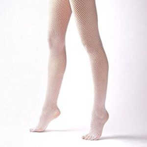 White fishnet pantyhose