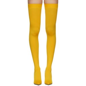 Yellow thigh highs