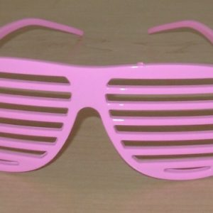 Pink 80's style glasses