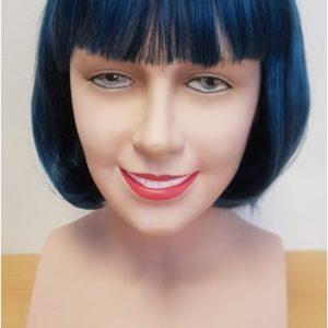 Blue black bob wig