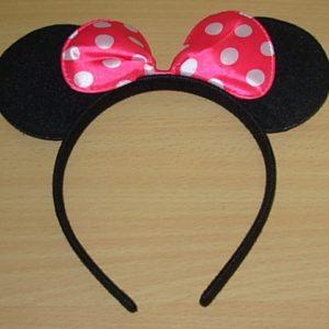 Minni mouse ears on headband