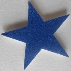 Blue glitter polystyrene star