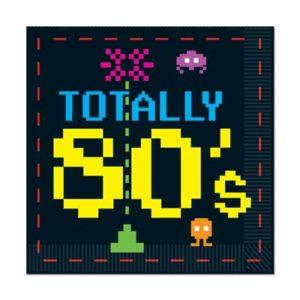 80's themed napkins