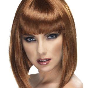 Glam bob wig brown