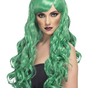 Curly long green wig