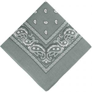 Light grey cowboy scarf