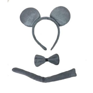 Grey mouse dress up set