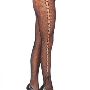 Fiahnet pantyhose with keyhole design