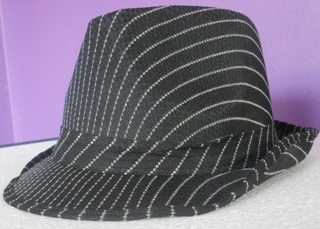Pinstripe fedora