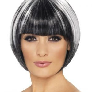 Black & white bob wig