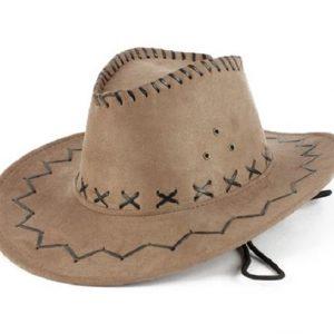 Mocha faux suede cowboy hat