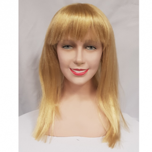 Blonde straight wig with fringe