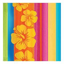 Sunset stripe Hawaiian themed napkins