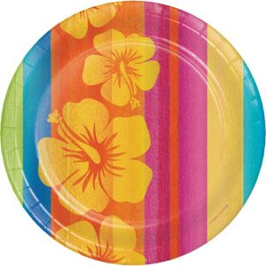 Sunset stripes paper side plate