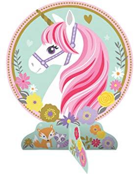 Unicorn themed centerpiece